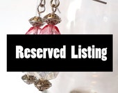 RESERVED FOR KAREN L. Pink drop earrings, crystal drop earrings, pink dangle earrings, surgical steel