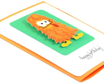 Kids birthday card, birthday card for boy, childrens birthday card, monster card, birthday card for nephew