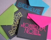 Neon Holiday Cards : Multipack of 12
