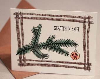Scratch 'n Sniff Holiday Cards : PINE Pack of 8