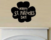 vinyl wall decal quote Happy St Patricks day