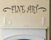 wall decal quote - Fine art accent display childs drawings photos