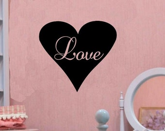 vinyl wall decal quote love heart