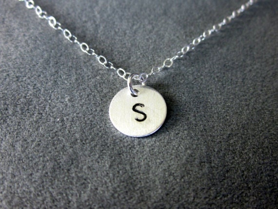 Custom Initial Necklace in Sterling Silver