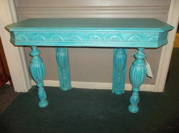 RESERVED for TATUM (only purchase if Tatum) Antique Sofa/Console Table Re-purposed from a early 1900's Dining Room Table