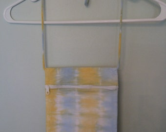 Blue & YellowSmall Tie Dye Shoulder Zipper Pouch Purse