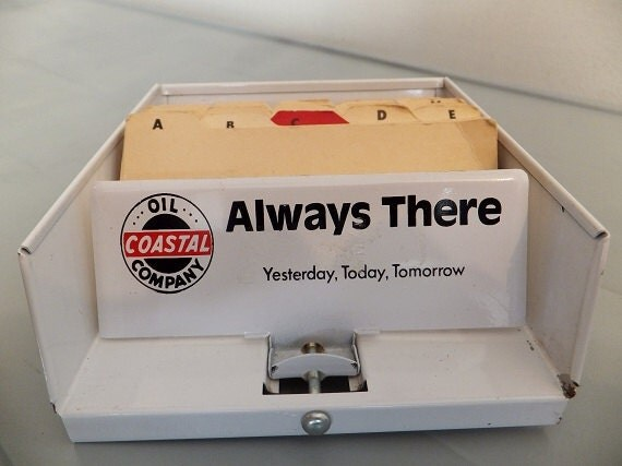 Vintage Address Card Holder Desk Top Rolodex