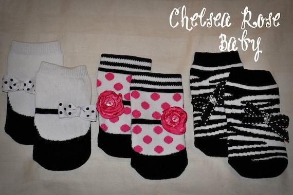 Baby Socks - 3 pairs of Adorable Designer Infant Girl Socks