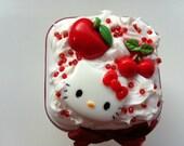 mini trinket diy decoden storage box - kawaii and kitsch - hello kitty and fruit theme