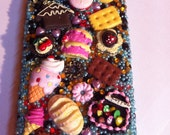 Iphone 4   case / cover -  mixed foods - cake candy and ice cream