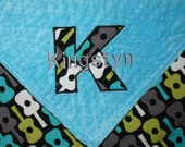 "NEW -Personalized Blanket - Toddler Crib Minky Blanket 36x42"" -MaDe To oRDeR"