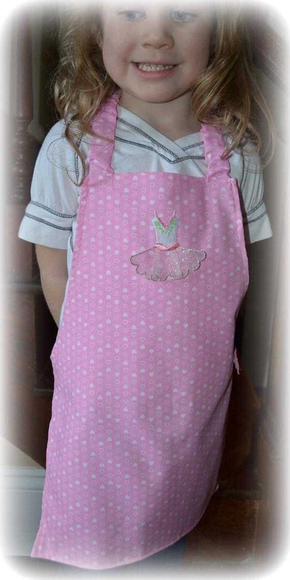 Apron, Toddler Pink Ballerina Reversible