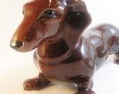 Reserved for lucylucylemon    Royal Haegar Dachshund Dog Ceramic Figure