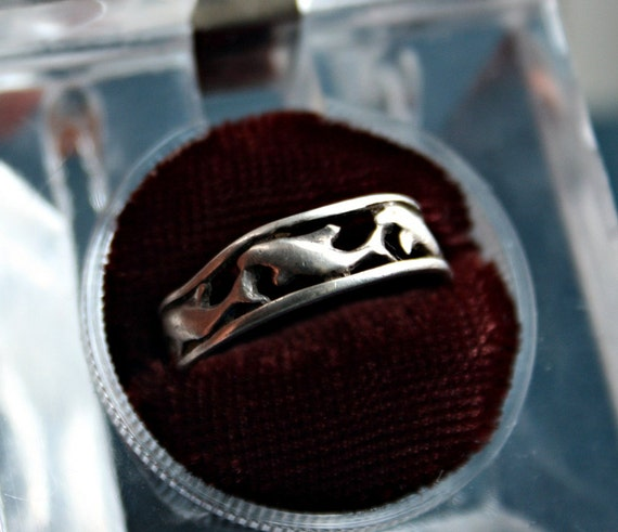 Swim with the Dolphins Sterling Silver Ring Band