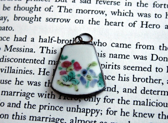 Sweet and Simple Painted Flower Pendant