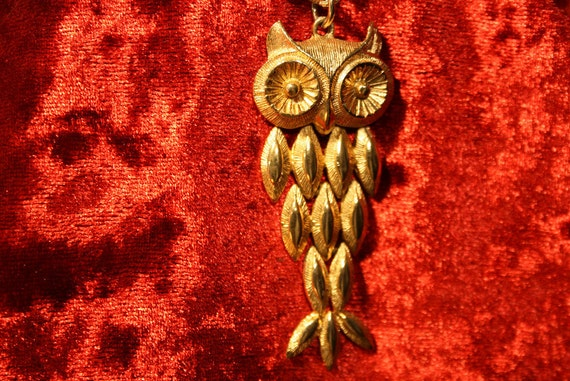 Articulating Owl Necklace - Avon