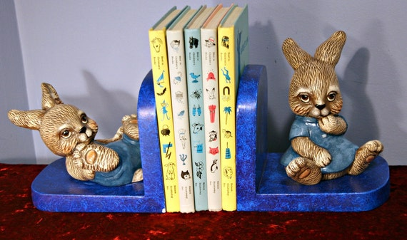 Adorable Bunny Rabbit Bookends - Scioto - Nursery Decor - Playroom Decor
