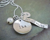 "Personalized ""Sing Praise"" Name Charm Necklace"