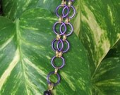 Onion Faceted Amethyst Asian Chainmail Empowerment Necklace