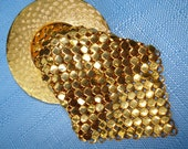 80s Seriously Gold Glomesh Brooch ...