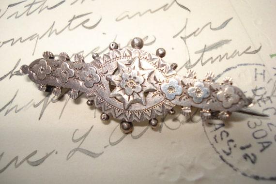 Birmingham Antique Silver Sweetheart Brooch Hallmarked 1901 Makers Mark RJW