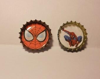 SpiderMan Bottlecap 1 inch pin Button set (2)
