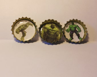 The HULK - superhero - Bottlecap 1 inch pin Button set (3)