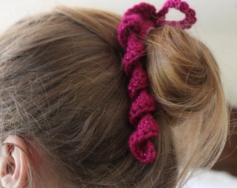 Crochet Hair Spirals : CROCHET SPIRAL HAIR TIES - Only New Crochet Patterns