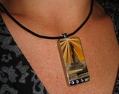 Vintage US Navy Recruitment Poster Domino Sized Pendant Necklace For Liberty's Sake