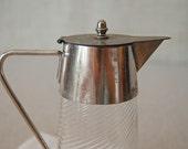 antique swirl glass pitcher