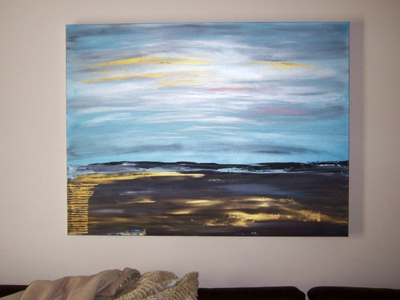 "30"" x 40"" x 1-1/2"" Profile LARGE Contemporary ""Gods Big Sky Country"" ORIGINAL"