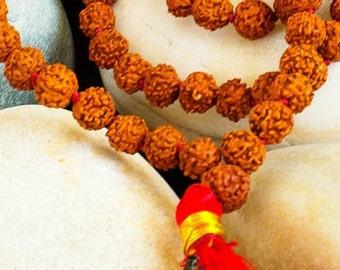 Rudraksha Mala Beads for Meditation - 108 beads, Knotted