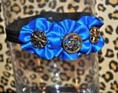 Blue sailor headband