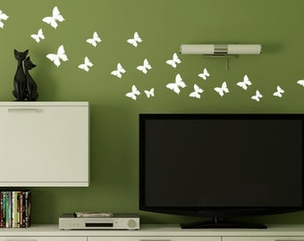 butterfly decals - wall decal - butterflies decal- nursery wall decal- living room decor - children wall decal - home decor-