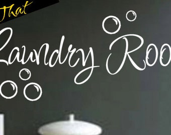 Laundry Room vinyl decal wall art decor removable