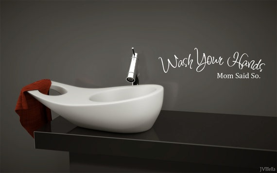 Wash Your Hands.... Bathroom decal  vinyl decal wall art decor removable (Style2)