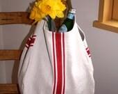 French hemp hobo bag