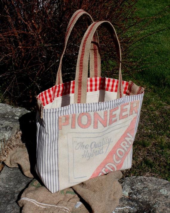 repurposed Tote Bag Gardeners Dream