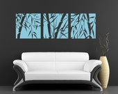 Wall Decal - 3 Panel Bamboo Stock - Stickers By Creepy Goat Graphics