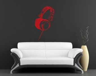 Wall Decal - Headphones - Stickers By Creepy Goat Graphics