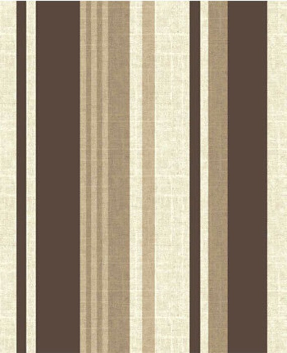 Designer Chocolate Brown , Tan and Cream Stripe Throw Pillow Cover 18 x 18