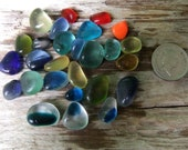 English sea glass, tinies and teeny tinies in lovely shades