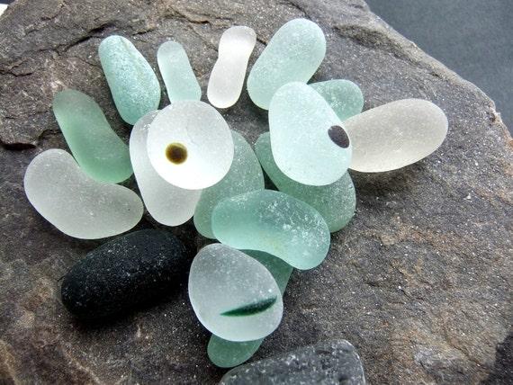 English sea glass with a sense of humor. Pendants and spot multis