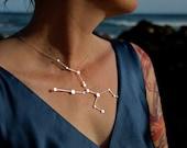 Taurus Constellation Statement Necklace Sterling Silver