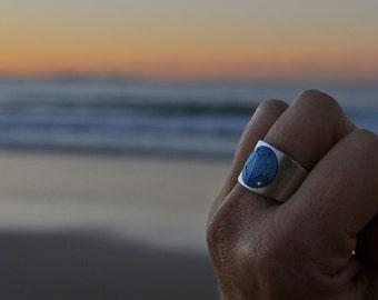Constellation Ring Libra Titanium Sterling Silver Unisex