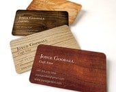 Business card 100 cards by offset printing, wood texture