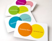Business card 100 cards by offset printing, modern and simple circle
