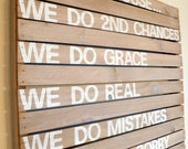 Family Rules - Rustic Pallet Wood Sign