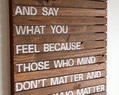 Be who you are - Rustic Wood Pallet Sign