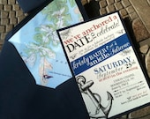 Nautical Save the Date or Engagement Party Invitation